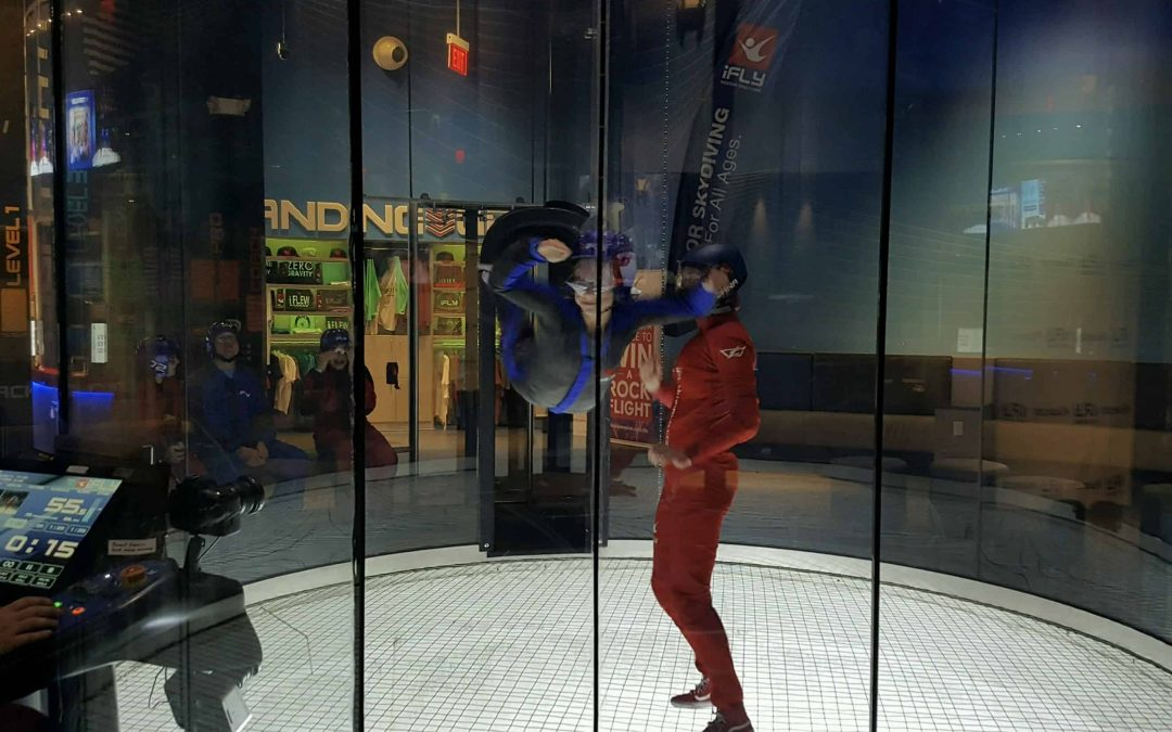 Kadence Goes Indoor Skydiving